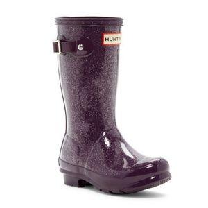 Hunter Original Tall Boots | Purple Glitter